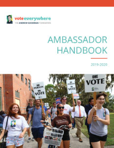 Cover of the 2019 Ambassador Handbook