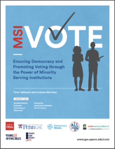 Cover of the University of Pennsylvania's MSI Vote report