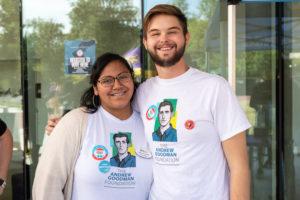 two Andrew Goodman Ambassadors