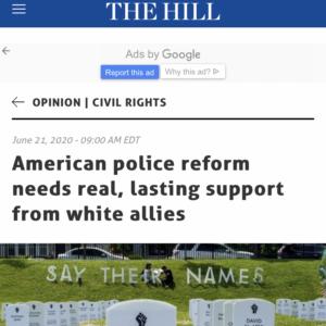 Headline of The Hill op-ed